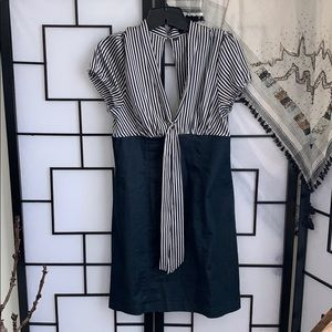 Guess Sailor Stripe Denim Dress